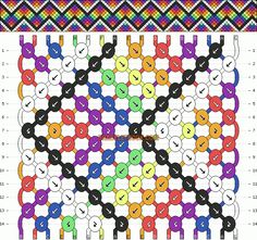 Learn how to tie your own friendship bracelets! _____ _____ _____ _____ _____ _____ _____ Friendship bracelet pattern 9917 by NeverNever #friendshipbracelets #friendship #bracelet #wristband #craft #handmade #DIY #braceletbook #bb #friendshipbraceletmaking #braceletdesigns #bestfriendsbracelets #diyjewelry #knottedbracelets #knotting #macrame #beading #seedbeeddesigns #diybracelets #howto #instructions #pattern #zigzag #rainbow #colorful #arrows #chevron #pointers