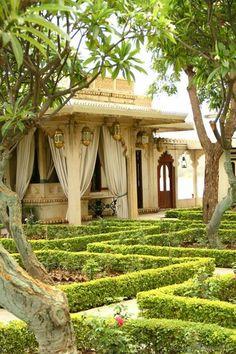 Indian palace Garden, Rajasthan