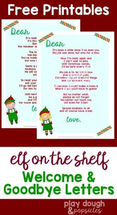 Impertinent image with regard to elf on the shelf welcome back letter printable
