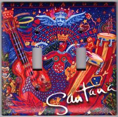 Santana Supernatural Album Cover Switchplate by SpottedDogStudios, $9.00