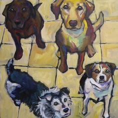 Who Wants a Treat?, painting by artist Elizabeth Fraser
