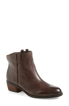 Free shipping and returns on Sam Edelman 'James' Round Toe Bootie (Women) at Nordstrom.com. Your go-to bootie gets an extra pop of dimension with inverted seams and decorative pull-tabs. The burnished, round-toe style pairs with almost anything, no matter what the season.