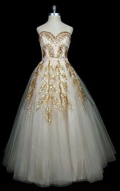 White - Vintage Christian Dior,  I don't mind seeing this as a wedding gown, different than those pure white, which gets boring.
