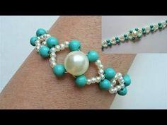 Easy beaded bracelet tutorial. Perfect gift idea - YouTube