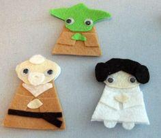 DIY Star Wars finger puppets