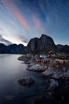 Hamnøy by Christian Sperr Norway, Christian, Mountains, Water, Landscapes, Travel, Outdoor, Gripe Water, Paisajes