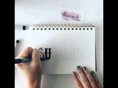 The Basics of Hand-Lettering - YouTube