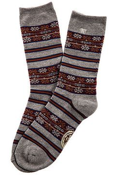 The Multnomah Socks in Heather Grey by Obey