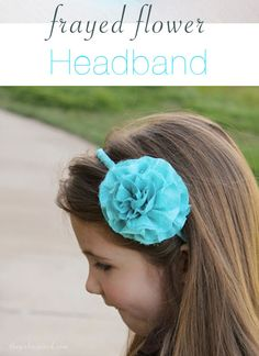 Frayed Flower Headband - this style fabric flower would be cute on a headband or as a brooch, even on a bag!