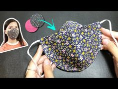 New design - NO FOG ON GLASSES - Very quick & easy 3D face mask sewing tutorial circle template - YouTube Easy Face Masks, Homemade Face Masks, Diy Face Mask, Sewing Tutorials, Sewing Hacks, Sewing Crafts, Sewing Patterns, Circle Template, Crochet Mask
