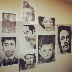 My draw portraits benim portre cizimlerim