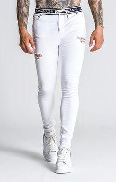 Ripped Shorts, Chino Shorts, Roman Man, Latest Jeans, Urban Fashion Women, Mens Clothing Styles, Skinny Fit, Stretch Denim, White Jeans