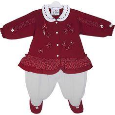 Macacão Bebê Menina de Bolinhas Lara Vermelho - Beth Bebê :: 764 Kids | Roupa bebê e infantil