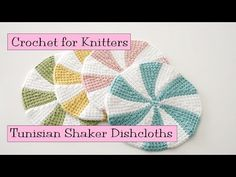 Tunisian Shaker Dishcloths - YouTube