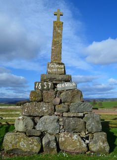 Maggie Wall burnt here 1657 as a Witch, Dunning Parish, Perthshire