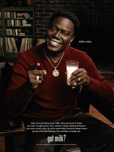 """Bernie Mac (RIP) reminded parents that kids should drink milk. 