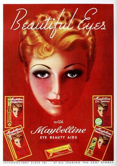 Maybelline Eye Makeup Ad, September 1936 For the trivia game we ended up nixing.