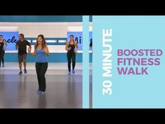 30 Minute Boosted Fitness Walk Walk at Home Cardio Workout At Home, 30 Minute Workout, At Home Workouts, Elliptical Workouts, Workout Plans, Treadmill, Leslie Sansone, Walking Exercise, Walking Workouts
