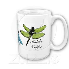 "Dragonfly Mug now in our Zazzle shop. ""Native Americans believe that the dragonfly represents happiness, speed, purity, transformation and process of change."" 