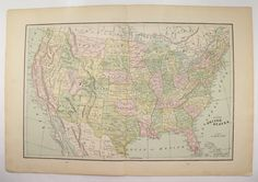 United States Map Territory Growth Acquisition Historical - 1896 map of us
