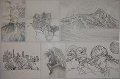 NCEA Folio - Drawings by FlyingRabbitMonkey on DeviantArt Level 3, Vintage World Maps, Boards, Deviantart, Drawings, Planks, Sketches, Drawing, Portrait