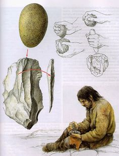 primitive flint knapping tools - Buscar con Google