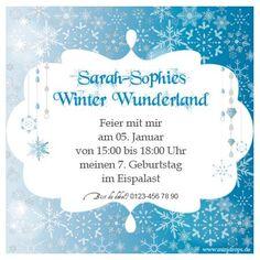 Frozen Eiskönigin Einladungskarte personalisierte Einladung
