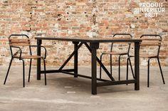 Esstisch Kerizel - esstisch - Industrial Design mit klaren Linien, 100% Stahl