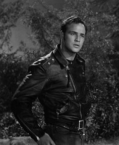 "Marlon Brando in ""The Wild One"""