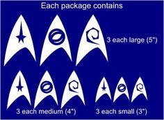 Star Trek Family Decals // Trek Car Window Stickers by 4EverRetro, $12.95