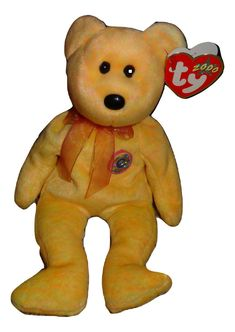 Beanie Baby TY Sunny Beanie E Baby Bear PE Pellets 2000 Mint TH  Ty 362cf7481b73