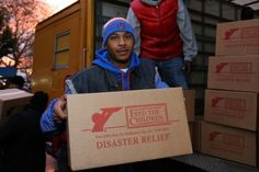 Carmelo Anthony's Storm Relief Project With Feed the Children