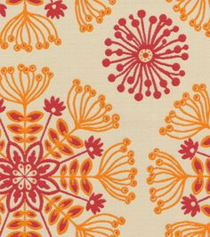 Upholstery Fabric-Waverly Kaleidoscope/Tiger Lily
