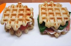 WW mild salted waffles, recipe for savory mild waffles in a salty, mellow and barely crispy model, simple to make Vegetarian Cooking, Vegetarian Recipes, Healthy Recipes, Waffle Pops, Wheat Belly Recipes, Savory Waffles, No Carb Recipes, Low Carbohydrate Diet, Diabetic Snacks