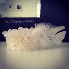 white side feather newborn crown — lindO Designs PROPS