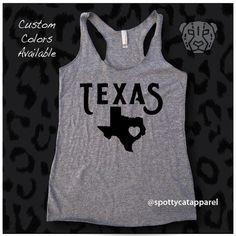 HELP SHOW YOUR SUPPORT FOR HOUSTON TEXAS WITH THESE TWO SUPER CUTE TANKS.. SPOTTYCAT WILL DONATE $2.00 FROM  EACH PURCHASE TO THE RED CROSS FOR THE RELIEF EFFORTS... HELP US MAKE A DIFFERENCE FOR THE VICTIMS OF THIS TERRIBLE TRAGEDIES