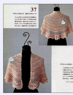 Crochet Wonders: Shawls and Shawl Crochet dohledat v popisech Crochet Shawls And Wraps, Crochet Scarves, Crochet Clothes, Crochet Cape Pattern, Crochet Patterns, Bolero Pattern, Mode Crochet, Crochet Lace, Crochet Baby Jacket