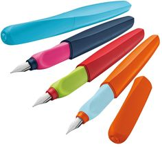 It's nice to see a company that makes elegant, high-end fountain pens still focusing on keeping children interested by producing colorful, fun fountain pens. Heck, I'm an adult and I'm totally interested in using one of these.