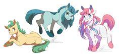 #890482 - artist:dennybutt, eeveelutions, glaceon, leafeon, pokemon, ponified, safe, sylveon - Derpibooru - My Little Pony: Friendship is Magic Imageboard