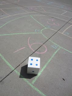 Relentlessly Fun, Deceptively Educational: Driveway Dice Roll Board Game