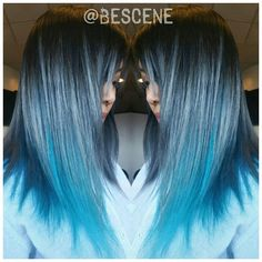 Gorgeous blue color and hair design by Linh Phan, owner of Be Scene Studios in Washington, D.C. #hotonbeauty instagram.com/hotonbeauty