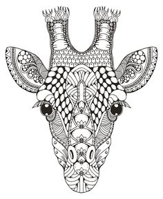Roman Poljak Loads of Zentangle animals for you to draw inspiration from, and then make your own. Including links for animal outlines and zentangle pattern ideas. Giraffe Coloring Pages, Dog Coloring Page, Mandala Coloring Pages, Coloring Book Pages, Dibujos Zentangle Art, Zentangle Animal, Giraffe Colors, Animal Outline, Giraffe Head