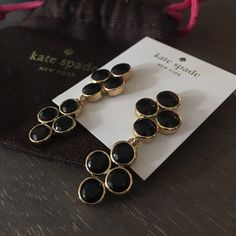 [ Kate Spade ♠️ ] HP Adorable Earrings New and amazing. Comes with dust bag. Price is firm on these.  Offer or Trades please. kate spade Jewelry Earrings