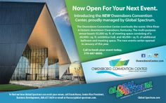 Owensboro Convention Center and Global Spectrum co-op ad for state magazine.