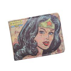 Dc wonder frau brieftasche mode cartoon superwomen brieftasche super hero geldbörse personalisierte frauen anime brieftasche für jugendliche mädchen student