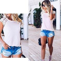 #mulpix Tshirt bordada com decote nas costas.... 🌴🌴☀️  #girls  #summer  #sun  #moda  #estilo  #avare  #represa  #dasdan 📲 14-98123-3921