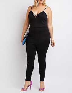 Plus Size Strappy Caged Jumpsuit * You can get more details by clicking on the image.