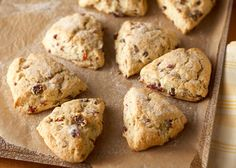 Cranberry Scones Scone Recipes, Brunch Recipes, Bread Recipes, Breakfast Recipes, Breakfast Pastries, What's For Breakfast, Fun Food, Good Food, Victorian Tea Party