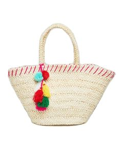 Buy ASOS South Beach Straw Beach Bag With Pom Pom Detail Online - Wardrobe Icons. Handpicked essentials curated by fashion experts.