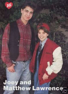 Joey and Matthew Lawrence Matthew Lawrence, Joey Lawrence, Andrew Matthews, Lawrence Photos, Mayim Bialik, Stars Then And Now, Attractive Guys, Pin Up, Teen